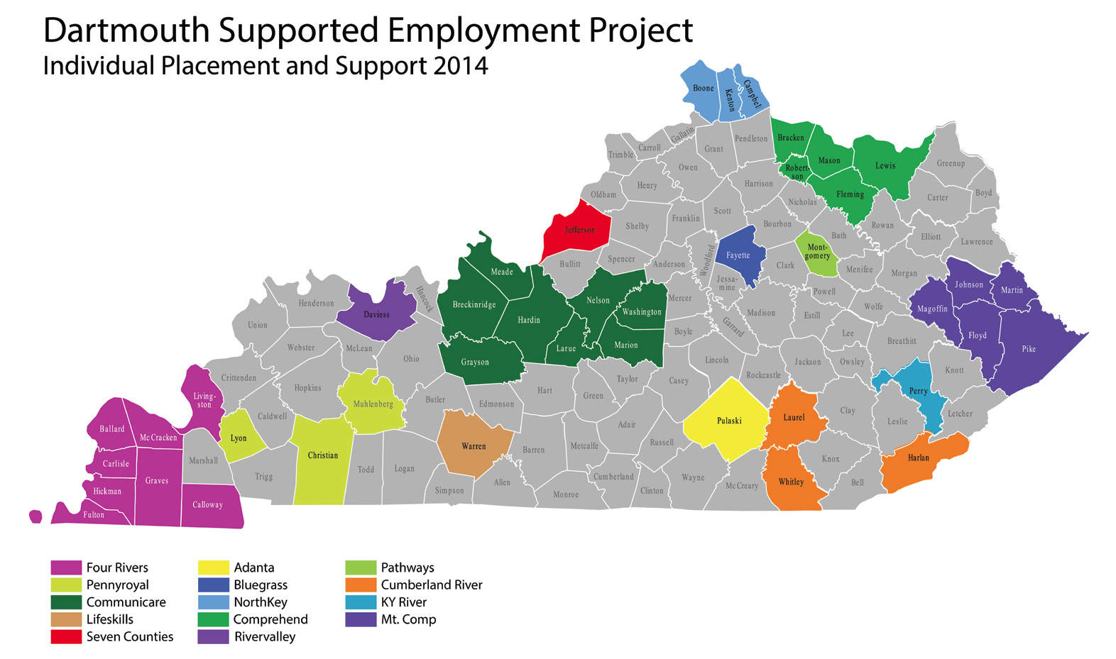 Darthmouth Project coverage map of Kentucky