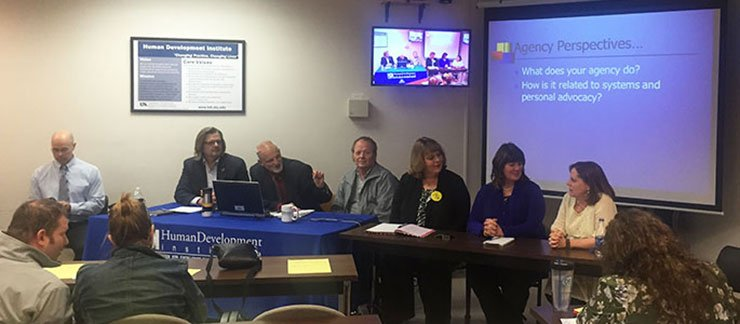 Group Photo of the History of Disabilities in Kentucky panel at the HDI Seminar Series April 2015 event
