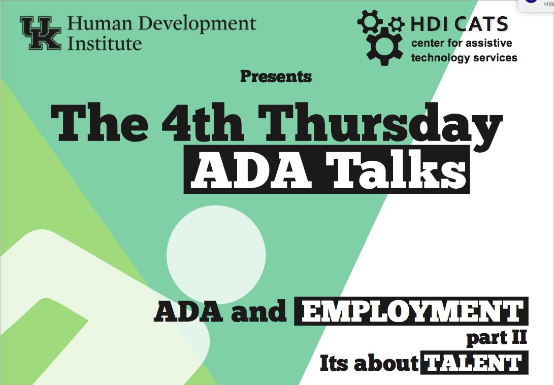ADA Talk Flyer