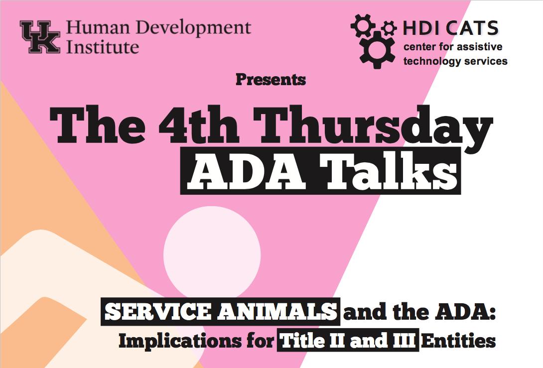 ADA Talks July Flyer image