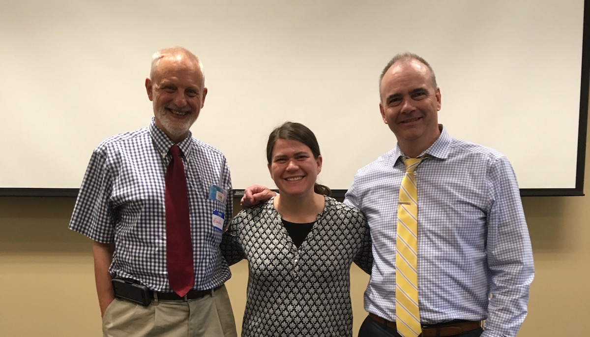 Photo of Harold Kleinert, Stephanie Meredith, and Sean Roy