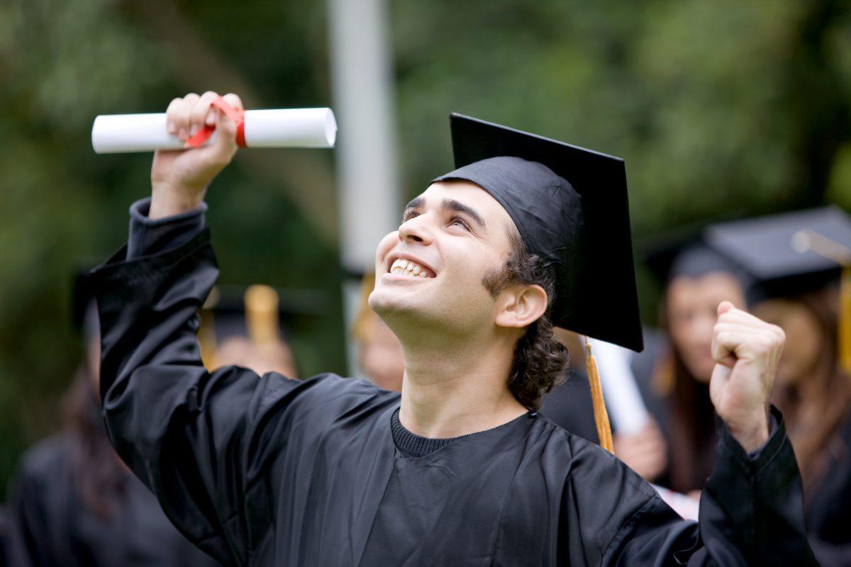 Student Graduating from high school