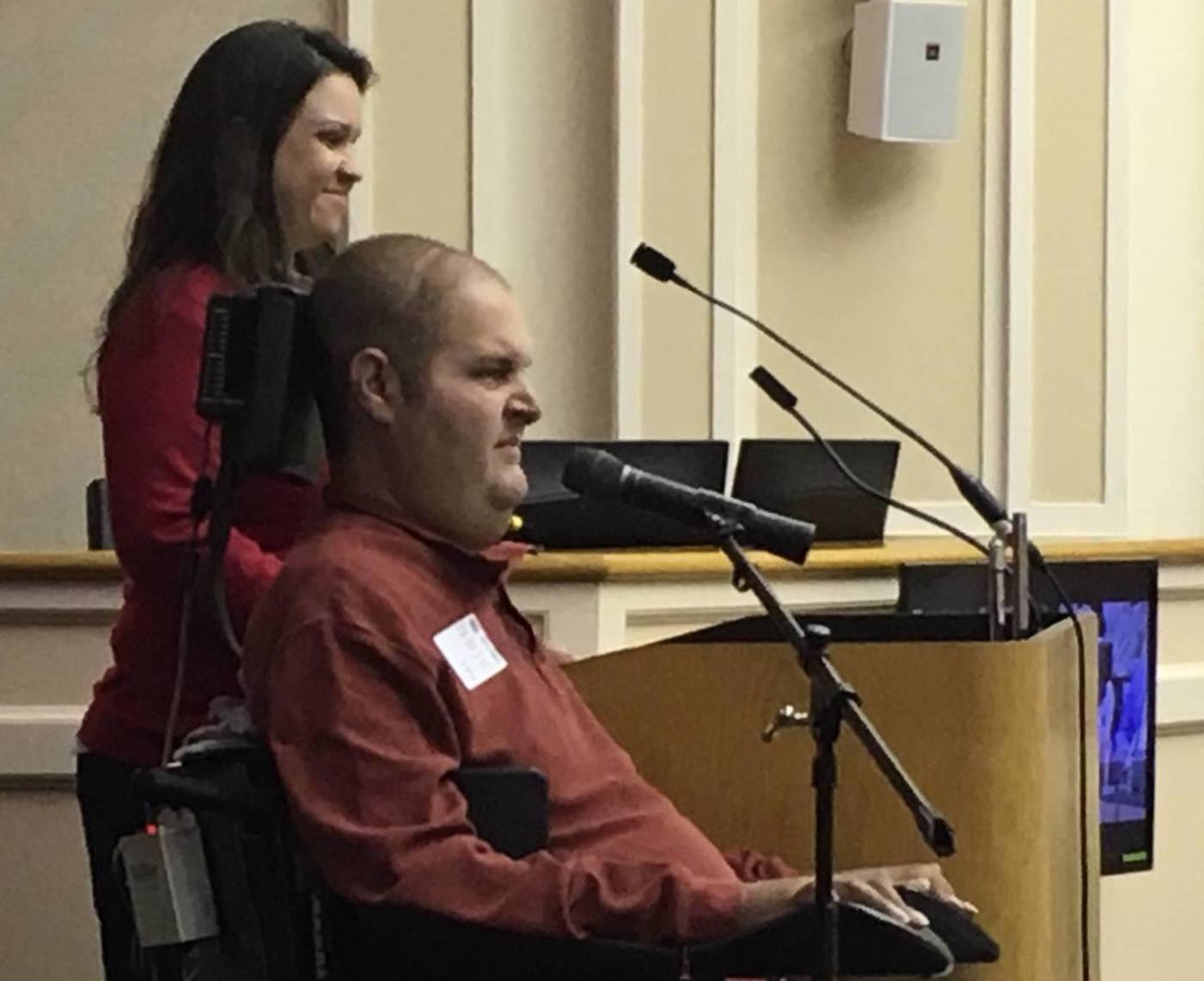 Jason Jones and Christina Espinosa Bard Presenting at the City Council Meeting