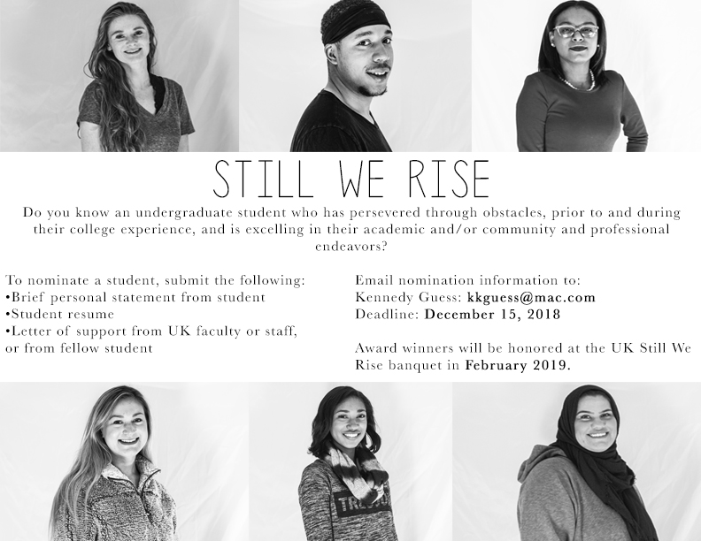 Flyer image with diverse photos of students and same content as in article.