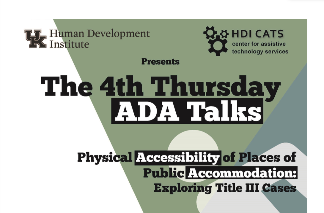 August ADA Talk flyer image. Content in article.